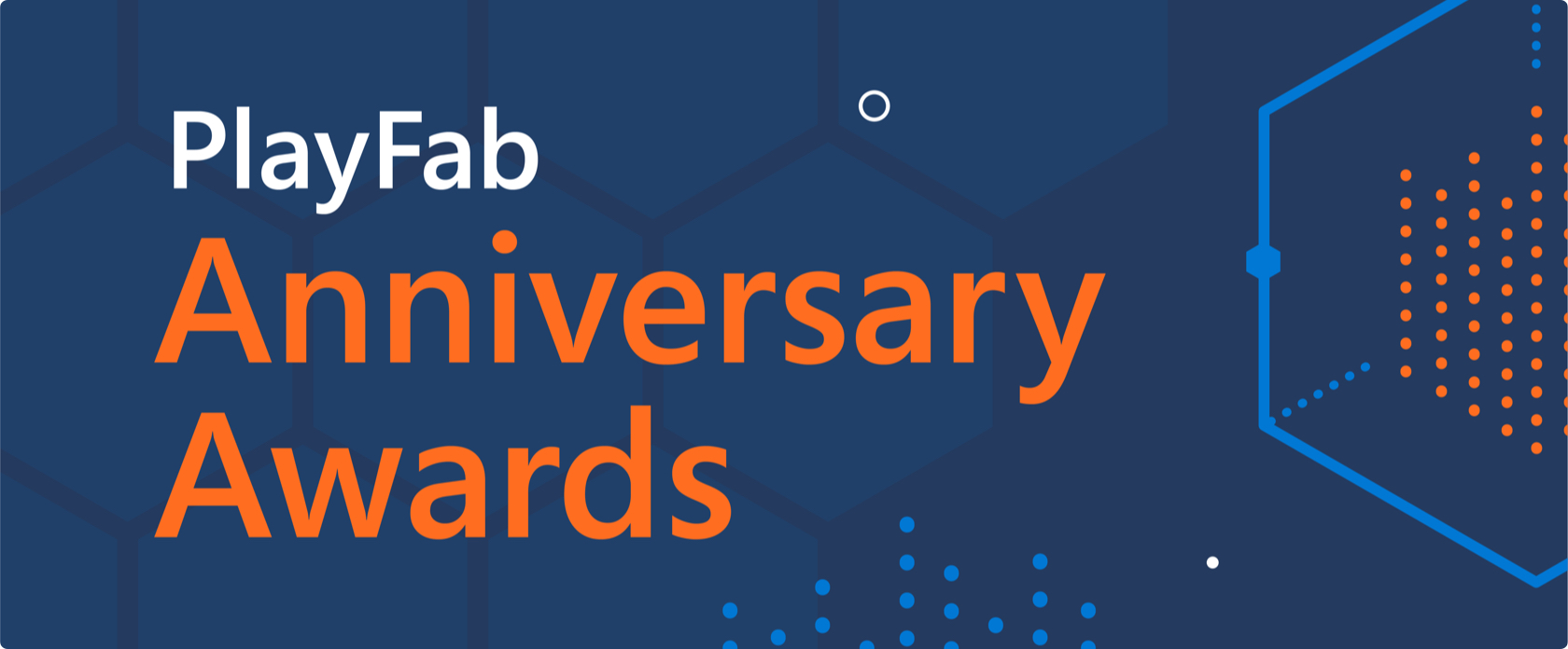 PlayFab anniversary awards banner